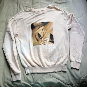 Ariana Grande 7 rings tie dye sweater Thank u next x H&M XS